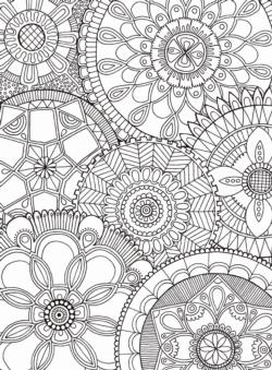 Mandala Collage Mandala Coloring Puzzle