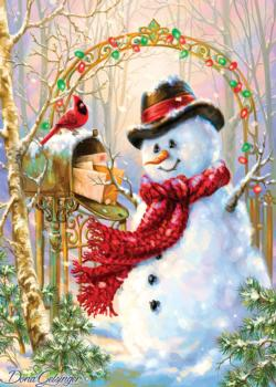 Letters to Frosty Christmas Jigsaw Puzzle