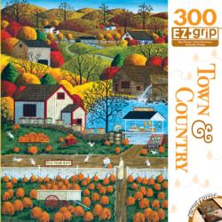 Autumn Morning (Town & Country) Chickens & Roosters Large Piece
