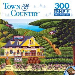Vineyard Visit (Town & Country) Americana & Folk Art Large Piece