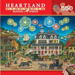 Fireworks Finale (Heartland) Seascape / Coastal Living Jigsaw Puzzle