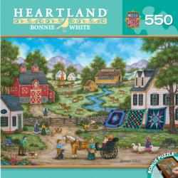 Roadside Gossip (Heartland) Folk Art Jigsaw Puzzle