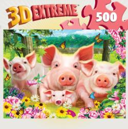 Piglet Patch Flowers Lenticular