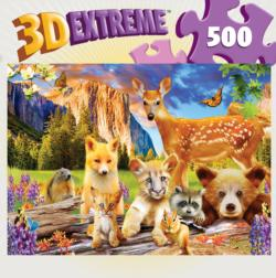 Cute Critters Collage Lenticular Puzzle