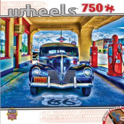 Kicks on Route 66 (Wheels) Nostalgic / Retro Jigsaw Puzzle