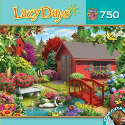 Over the Bridge (Lazy Days) Garden Jigsaw Puzzle
