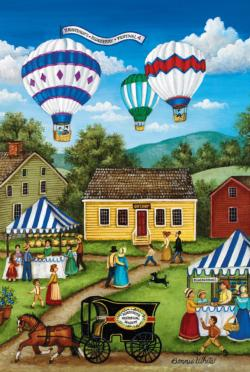 Blueberry Festival Americana & Folk Art Miniature Puzzle