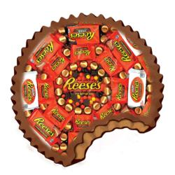 Shaped Reeses Sweets Round Jigsaw Puzzle