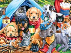 Camping Buddies Collage Large Piece