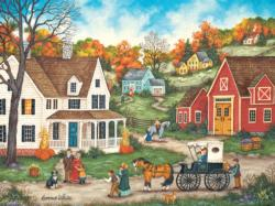 Dinner at Grandma's Americana & Folk Art Jigsaw Puzzle