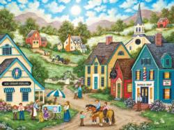 Double Dip Small Town Jigsaw Puzzle