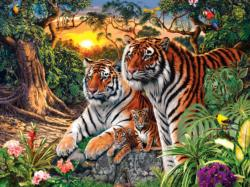 Jungle Pride Tigers Jigsaw Puzzle