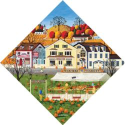 Farmer's Market Small Town Shaped Puzzle