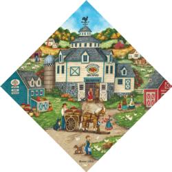 Bartlett's Apple Orchard Farm Shaped Puzzle