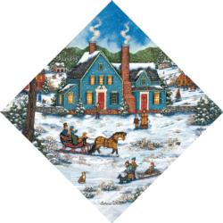 Heading Home Folk Art Jigsaw Puzzle
