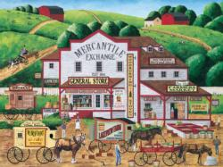 Morning Deliveries (Town & Country) - Scratch and Dent Americana & Folk Art Large Piece