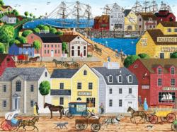 Home Port (Town & Country) - Scratch and Dent Americana & Folk Art Large Piece
