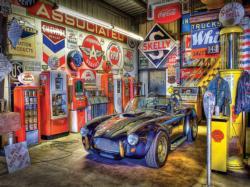 Jewel of the Garage (Wheels) Nostalgic / Retro Jigsaw Puzzle