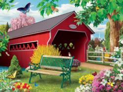 Springtime (Lazy Days) Bridges Jigsaw Puzzle
