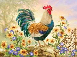 Morning Glory (Green Acres) Chickens & Roosters Children's Puzzles