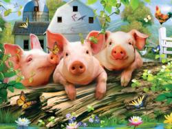 Three 'Lil Pigs (Green Acres) - Scratch and Dent Farm Animals Children's Puzzles