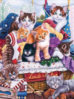 Loads of Fun (Playful Paws) Cats Large Piece