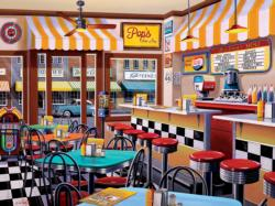 Pop's Soda Fountain (Shopkeepers) Nostalgic / Retro Jigsaw Puzzle