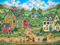Liberty Farm Parade (Heartland Collection) Americana & Folk Art Jigsaw Puzzle