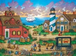 The Days End Americana & Folk Art Jigsaw Puzzle