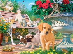 Afternoon at the Park Flowers Jigsaw Puzzle