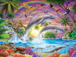 Fantasy Isle Dolphins Large Piece
