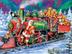 North Pole Delivery Santa Large Piece