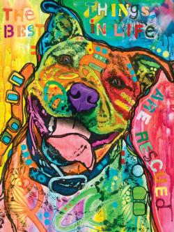 The Best Things in Life Dogs Large Piece