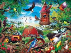 Farmland Frolic Birds Large Piece