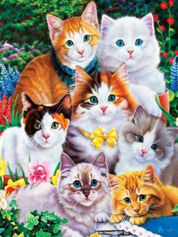 Puuurfectly Adorable Cats Large Piece