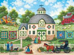 The Quilt Barn - Scratch and Dent Americana & Folk Art Jigsaw Puzzle