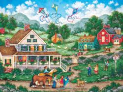 Crosswinds Americana & Folk Art Jigsaw Puzzle