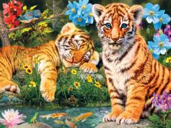 A Watchful Eye Tigers Jigsaw Puzzle