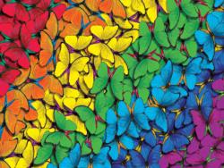 Fluttering Rainbow Pattern / Assortment Jigsaw Puzzle