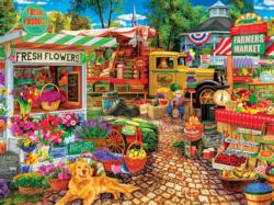 Sale on the Square Food and Drink Jigsaw Puzzle