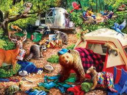 Campsite Trouble Family Fun Large Piece
