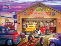 Old Timer's Hot Rods Nostalgic / Retro Jigsaw Puzzle