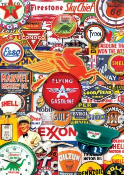Retro Petrol Collage Tin Packaging