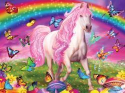 Rainbow World Horses Large Piece