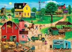 After the Chores - Scratch and Dent Americana & Folk Art Large Piece
