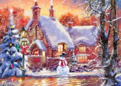 Snowman Cottage Christmas Jigsaw Puzzle