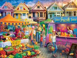 Weekend Market Shopping Jigsaw Puzzle