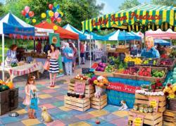 Corner Market Shopping Jigsaw Puzzle