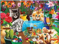 Marvelous Kittens Flowers Family Pieces