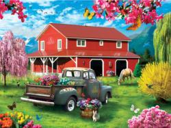 A Farm's Alive Flowers Jigsaw Puzzle